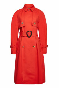 Escada Cotton-Blend Coat with Belt