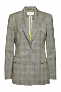 Escada Banita Checked Virgin Wool Blazer