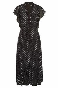 Karl Lagerfeld Polka Dot Midi Dress