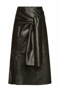 Joseph Leather Midi Skirt