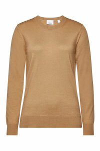 Burberry Bempton Merino Wool Pullover with Elbow Patches