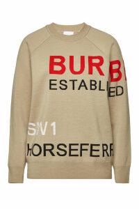Burberry Acheron Printed Extra Fine Merino Wool Pullover