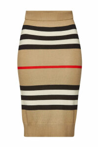 Burberry Kwando Striped Merino Wool Skirt