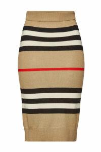 Burberry Kwando Striped Merino Wool Skirt