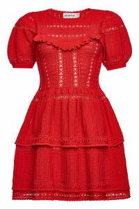 Self-Portrait Knit Mini Dress in Cotton