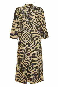 By Malene Birger Keelia Printed Maxi Dress with Silk