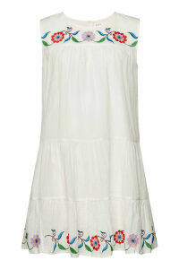 Velvet Colina Cotton Mini Dress with Embroidery