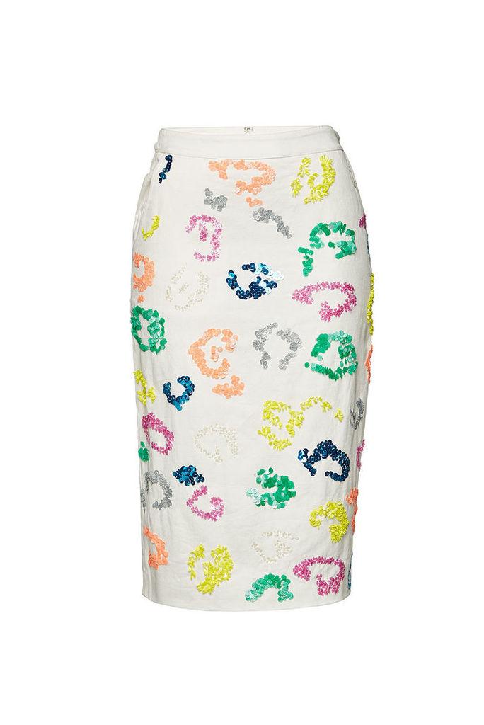 ESSENTIEL ANTWERP Embellished Cotton Skirt