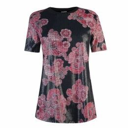 DKNY DKNY Print Sequin Top