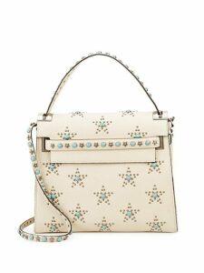 Embellished Leather Top Handle Bag
