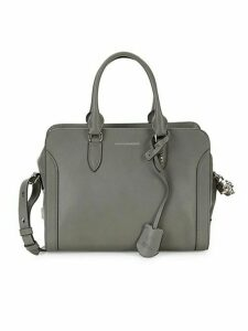 Pebbled Leather Boxed Satchel