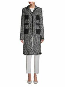 Tweed Lace-Pocket Overcoat