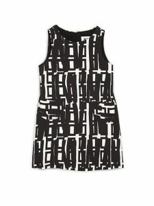 Little Girl's Linear Geometric Printed Shift Dress