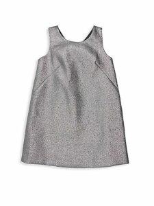 Little Girl's & Girl's Bow Back Glittered Shift Dress