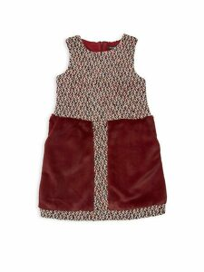 Little Girl's & Girl's Faux Fur-Trimmed Dress