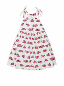 Little Girl's & Girl's Watermelon-Print Stretch Cotton Dress