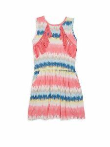 Little Girl's & Girl's Printed Sleeveless Dress