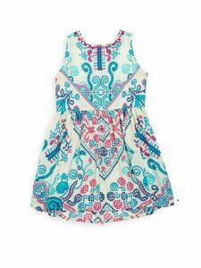 Little Girl's & Girl's Printed Silk Dress