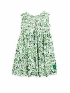Little Girl's & Girl's Palm Palm Pinny Cotton Dress