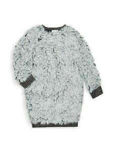 Little Girl's & Girl's Adventurous Hearts Faux Fur Dress