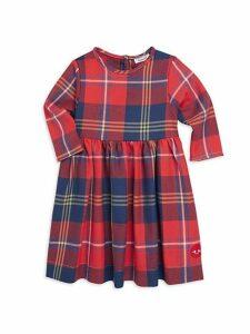 Little Girl's Harvest Plaid Winnie Cotton Dress