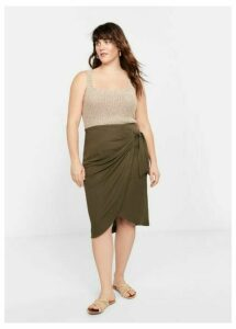 Bow midi skirt