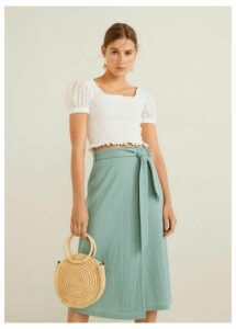 Bow wrap skirt