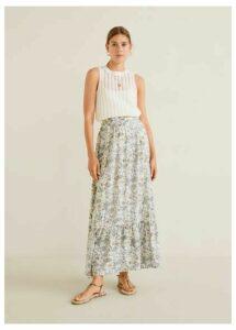 Printed modal skirt