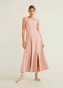 Side slit long dress