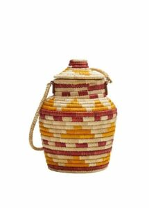Multicolor raffia bag