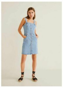 Medium denim pinafore dress