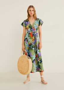 Crossover tropical dress