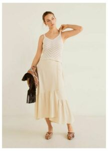 Soft fabric midi skirt