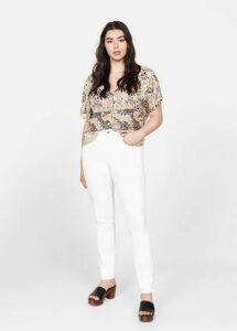 Printed boho blouse