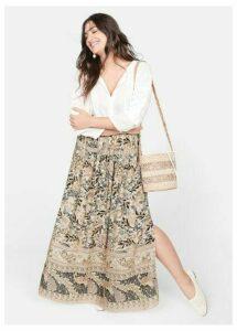 Boho print skirt