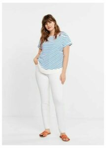 Buttoned striped t-shirt