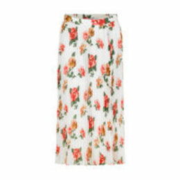 Chiswick Rose Spray Pleated Skirt
