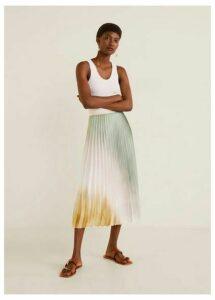 Tie-dye pleated skirt
