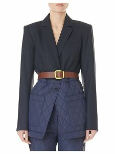 Quilted Combo Oversized Blazer
