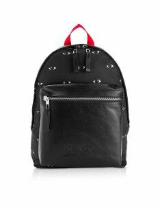 Kenzo Designer Handbags, Kenzo Eye Black Backpack