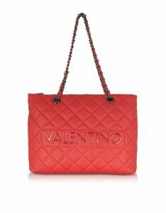Valentino by Mario Valentino Designer Handbags, Licia Quilted Shoulder Bag
