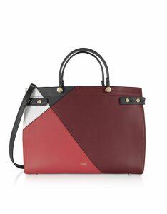 Furla Designer Handbags, Lady M Color Block Large Tote Bag
