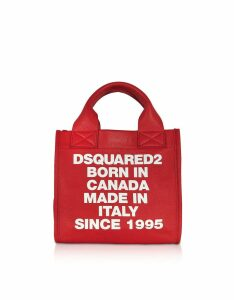 DSquared2 Designer Handbags, Signature Leather Small Tote Bag