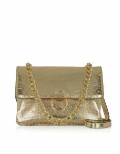 Roccobarocco Designer Handbags, Bento Laminated Eco-Leather Shoulder Bag