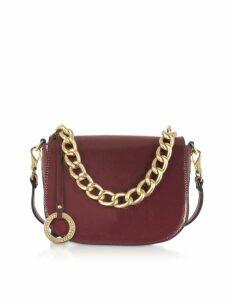 Roccobarocco Designer Handbags, Paella Shiny Eco-Leather Shoulder Bag
