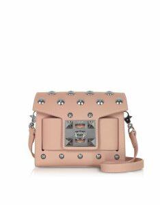 Salar Designer Handbags, Gaia Moon Studded Shoulder Bag
