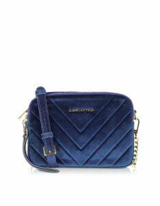 Lancaster Paris Designer Handbags, Quilted Velvet Couture Camera Bag
