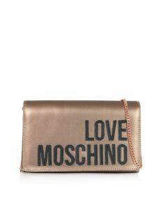 Love Moschino Designer Handbags, Love Moschino Signature Laminated Clutch