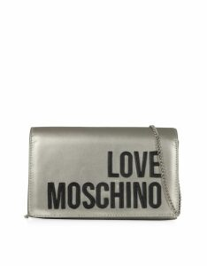 Love Moschino Designer Handbags, Love Moschino Signature Laminated Clutch