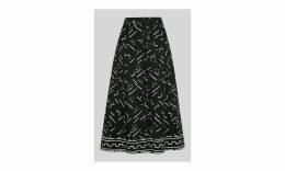 Kuba Print Linen Skirt